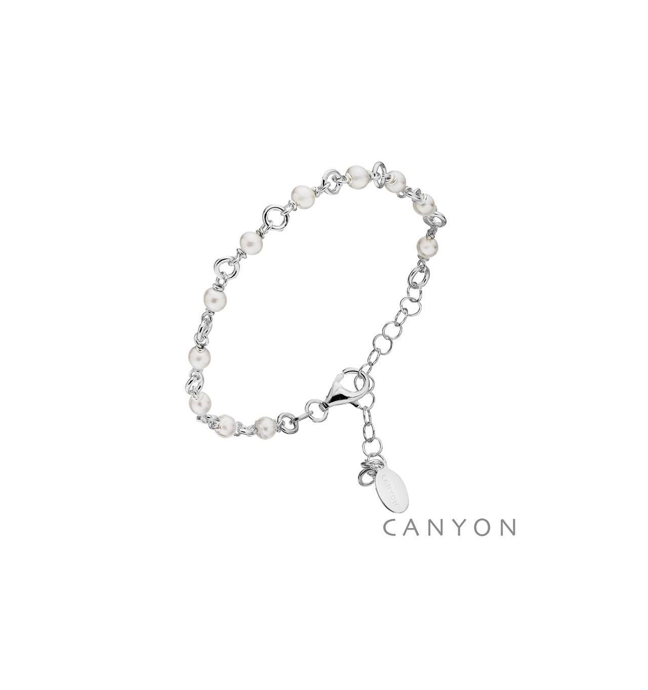 Bracelet 11 perles CANYON en argent 925/1000-E-Shop bijoux-totem.fr