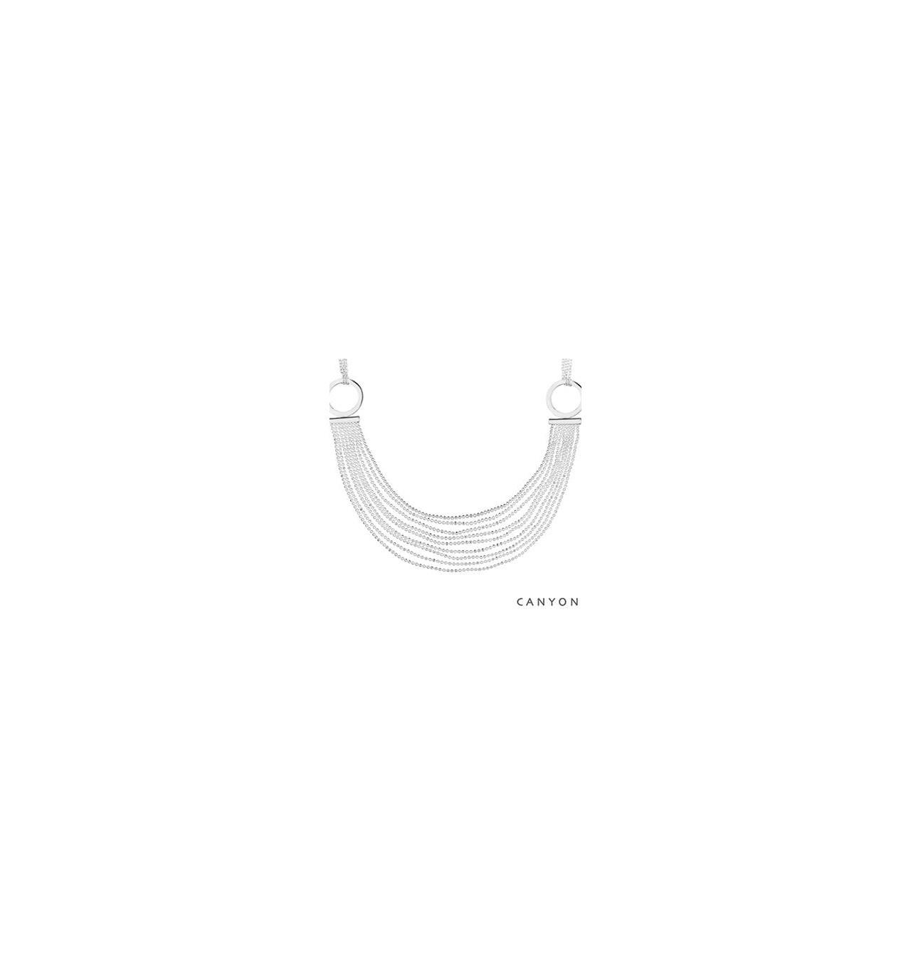 Collier multi chaines-CANYON en argent 925/1000 CANYON-E-Shop bijoux-totem.fr