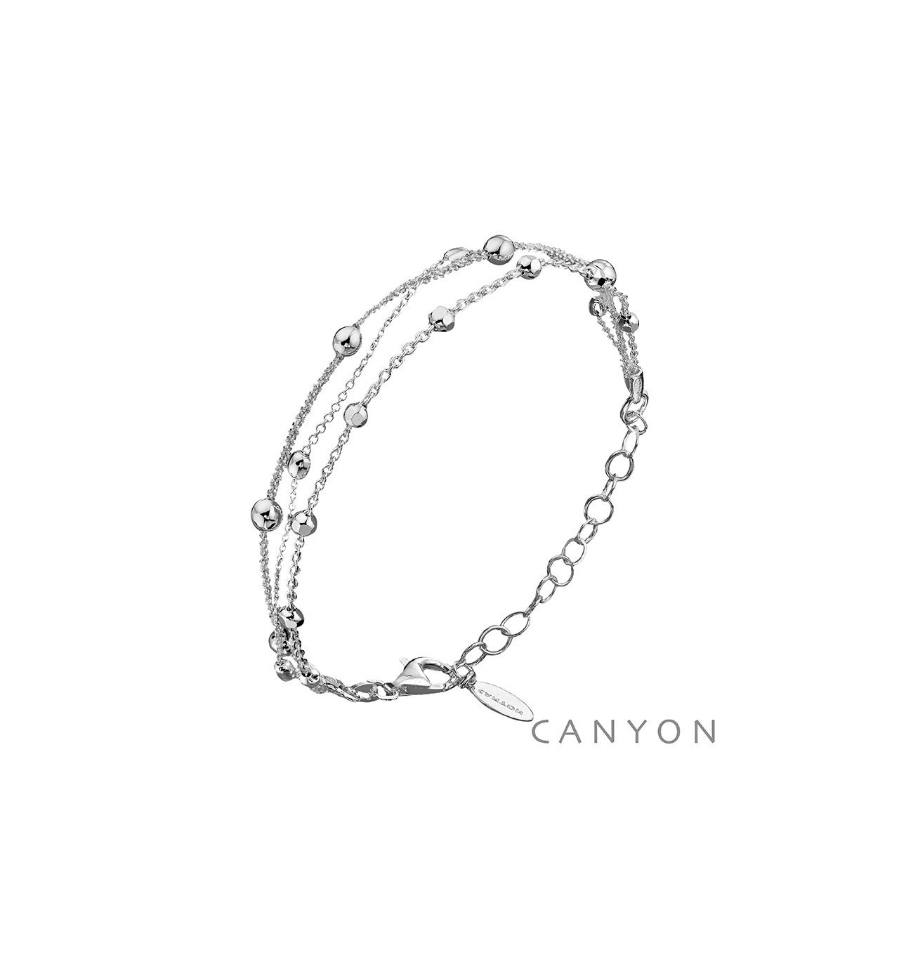 Bracelet petites billes-3 rangs-CANYON en argent 925/1000-E-Shop bijoux-totem.fr