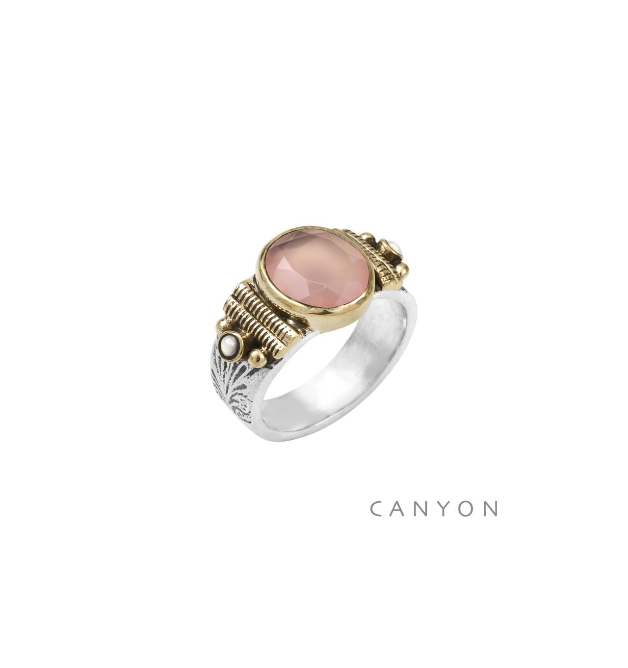 CANYON-Argent 925-bague-bijoux totem.