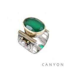CANYON-Argent 925-bague-quartz-bijoux totem.