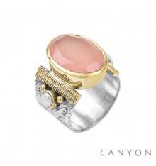 CANYON-Argent 925-bague-calcédoine-bijoux totem.