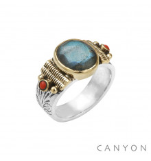 CANYON-Argent 925-bague-labradorite-bijoux totem.