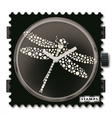Stamps-dragonfly diamond-cadran-montre-bijoux totem.