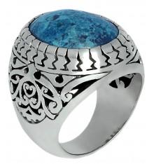 jalan jalan-bague-argent 925-crysocole bleue-bijoux totem.