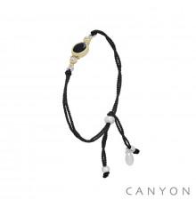 canyon-bracelet-argent 925-onyx-cordon-bijoux totem.