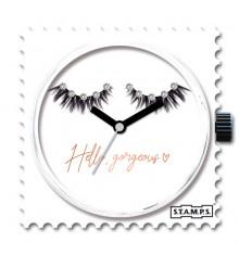 Stamps-diamond close eyes-cadran-montre-swarovski-bijoux-totem.fr