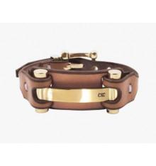 CXC-eclectique-bracelet-cuir-plaqué or-bijoux-totem.fr
