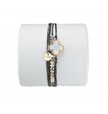 loetma-clover-bracelet-multi liens-réglable-lune-bijoux-totem.fr