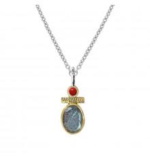 canyon france-collier-argent 925-labradorite-bijoux totem.