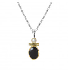 canyon france-collier-argent 925-onyx-bijoux totem.