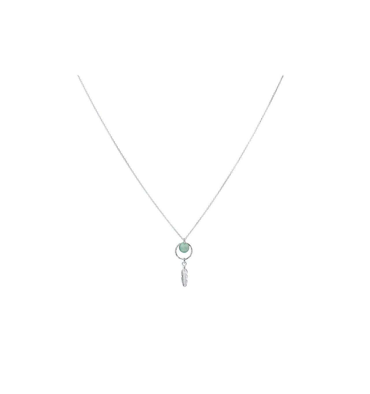 doriane-Argent 925-collier-aventurine-bijoux totem.