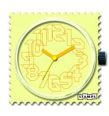 stamps-yellow iris-cadran-montre-bijoux totem