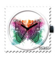 Stamps-butterfly diamond-cadran-montre-swarovski-bijoux totem.