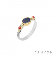 canyon-bague-argent 925-lapis lazuli-bijoux totem.