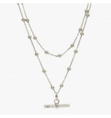 cxc-poniente-collier-plaqué argent-2 rangs-bijoux totem
