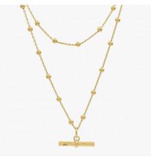 cxc-poniente-collier-plaqué or-2 rangs-bijoux totem