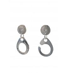 Secret de cuir-boucles d'oreilles-menottes-bijoux totem