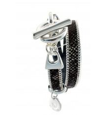 Secret de cuir-bracelet-double tours-cuir-marron-bijoux totem.