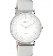oozoo-montre-femme-bracelet cuir-silver-bijoux totem
