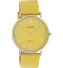oozoo-montre-femme-bracelet cuir-moutarde-bijoux totem