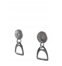 secret de cuir-boucles d'oreilles-étrier-bijoux totem