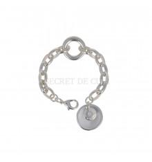 secret de cuir-bracelet-gourmette-anneaux ovales-bijoux totem.