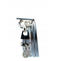 secret de cuir-bracelet-2 tours-argenté-cuir-bijoux totem.