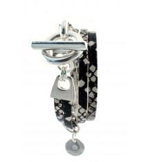 secret de cuir-bracelet-2 tours-cuir-façon serpent-bijoux totem.