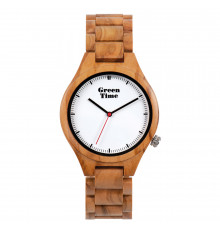 greentime-montre-basic collection-homme-bois de zèbre-bijoux totem