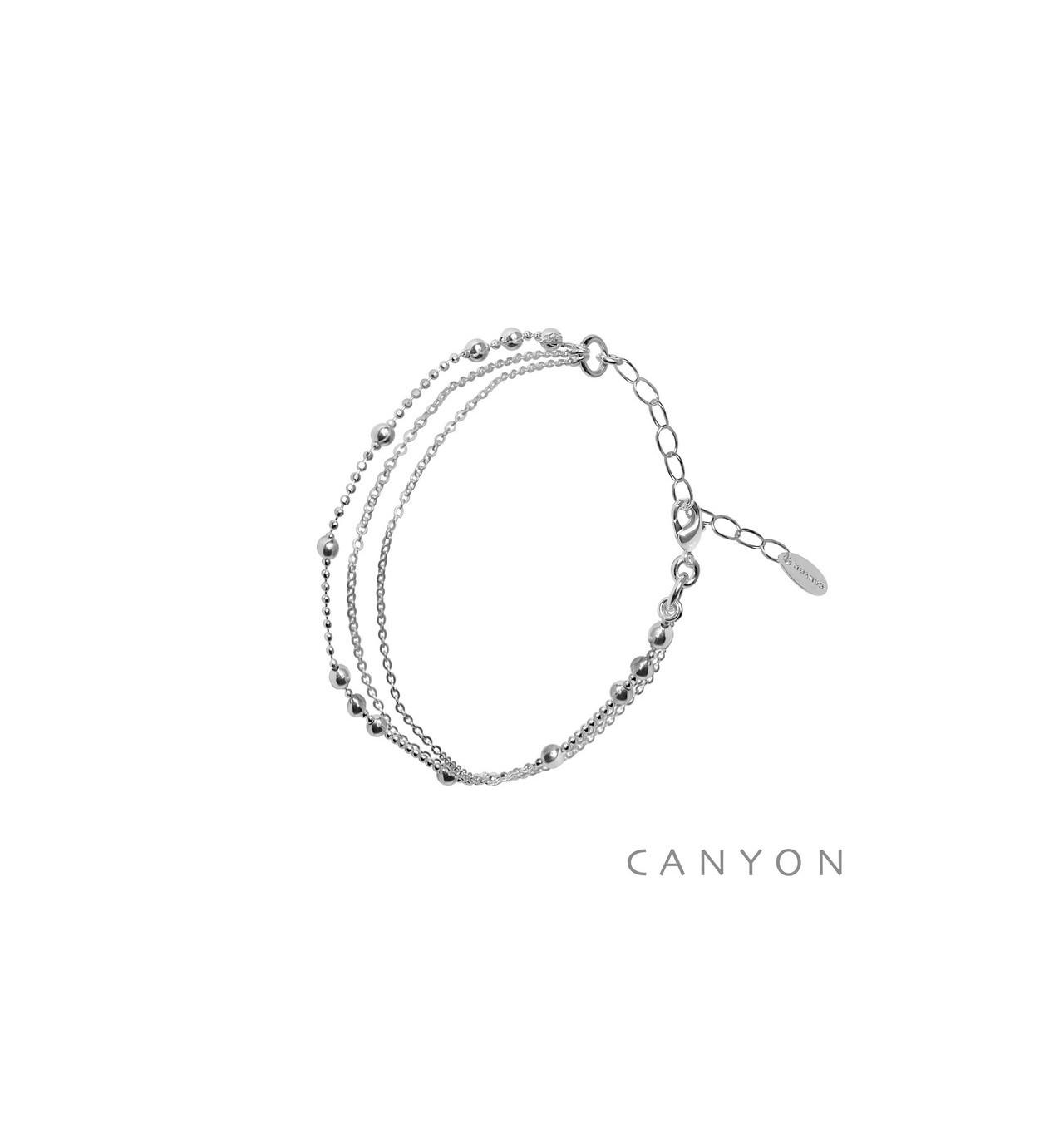 canyon-bracelet-argent-chainette-petites boules-bijoux totem