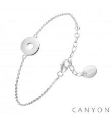 canyon-bracelet-argent-chainette-disque évidé-bijoux totem