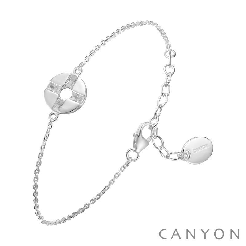 canyon-bracelet-argent-chainette-disque évidé-oxyde-bijoux totem