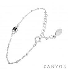 canyon-bracelet-argent-chainette-onyx-bijoux totem