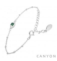 canyon-bracelet-argent-chainette-onyx-vert-bijoux totem