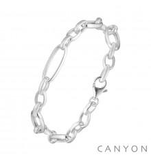 canyon-bracelet-argent-maillon ovale-bijoux totem