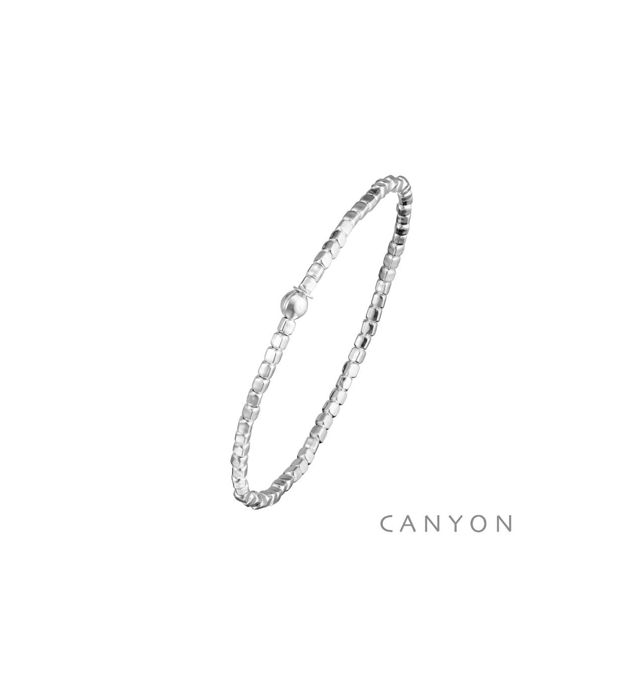 canyon-bracelet-argent-extensible-mini cubes-bijoux totem