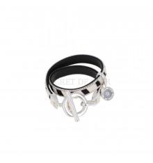 secret de cuir-bracelet-2 tours-cuir-zèbre-bijoux totem.