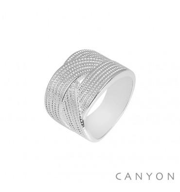 canyon-bague-argent 925-3 anneaux plats-bijoux totem.