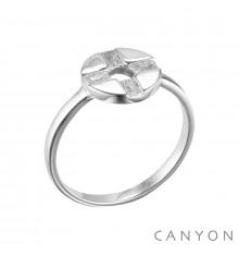 canyon-bague-argent 925-rond évidé-oxyde-bijoux totem.