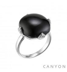 canyon-bague-argent 925-onyx noir-bijoux totem.
