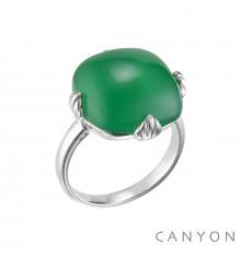 canyon-bague-argent 925-onyx vert-bijoux totem.