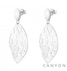 canyon-boucles d'oreilles-losange arrondi-argent 925-bijoux totem.