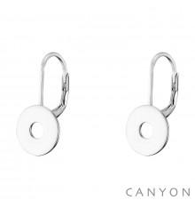 canyon-dormeuses-rond évidé-argent 925-bijoux totem.