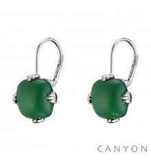 canyon-dormeuses-onyx vert-argent 925-bijoux totem.