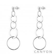 canyon-boucles d'oreilles-pendantes-5 cercles-argent 925-bijoux totem.
