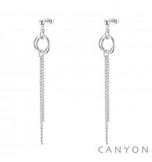 canyon-boucles d'oreilles-anneau & chaine-argent 925-bijoux totem.