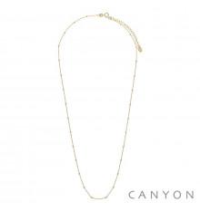 canyon france-collier-argent 925-mini boules-doré-bijoux totem.