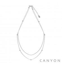canyon france-collier-argent 925-2 rangs-bijoux totem.