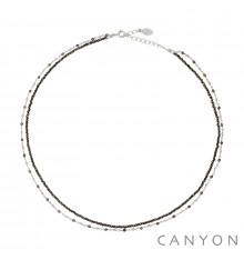 canyon france-collier-argent 925-pyrite-bijoux totem.